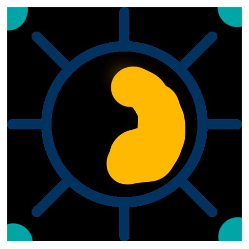 Multi-Colored Sun Icon