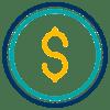 Multi-Colored Money Icon